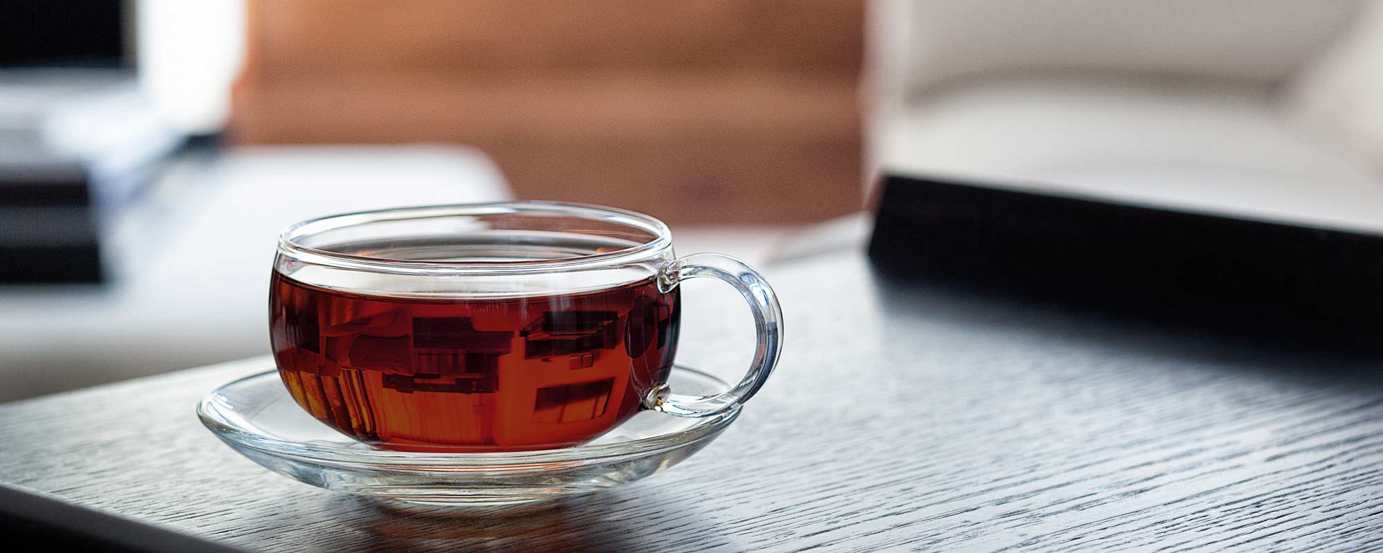 Glass Tea Cup of Assam Breakfast Tea