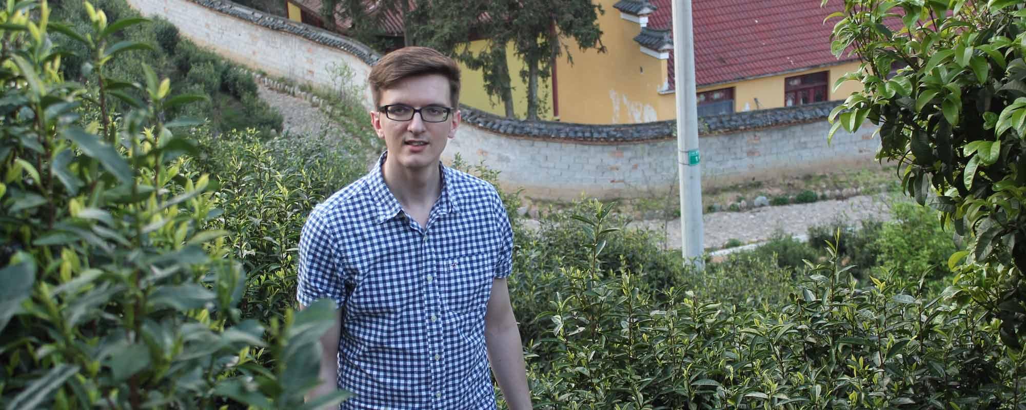 Tom at Hui Ming Temple Tea Garden