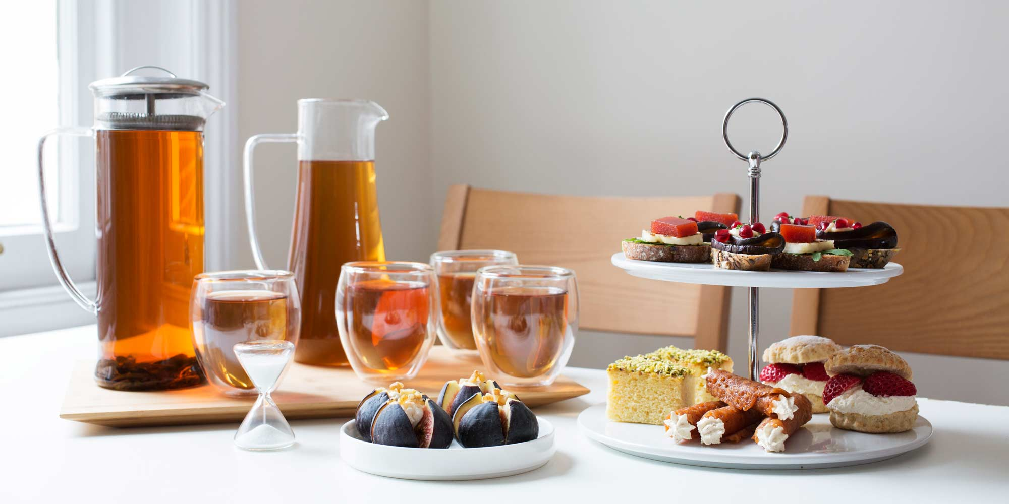 Array of afternoon tea treats