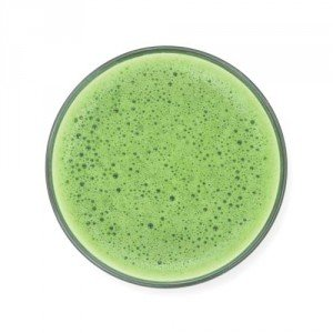 Frothy Matcha in a Glass