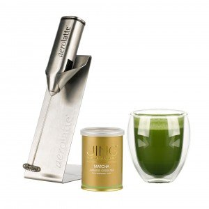 Modern Matcha Set with Aerolatte, Matcha set and Twin Wall Tea Glass