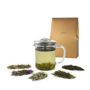 White and Green Tea Explorer Set with Tea-iere