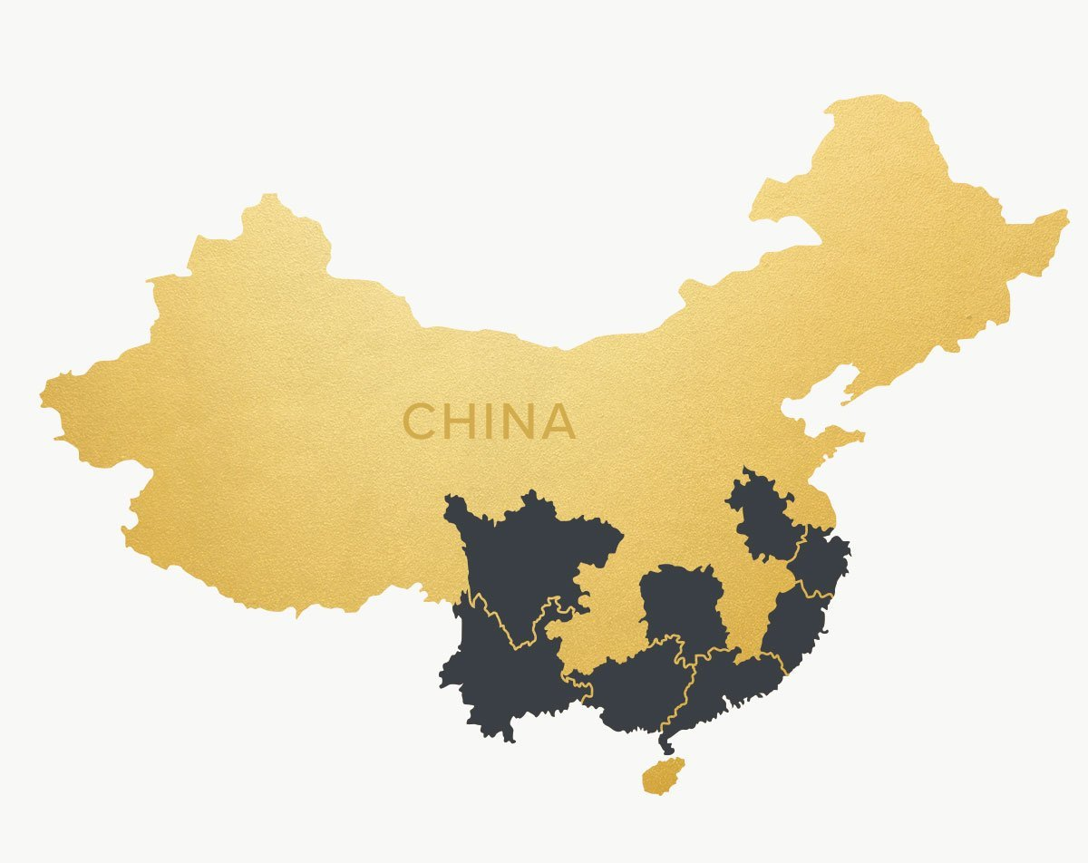 Map of China with Provinces