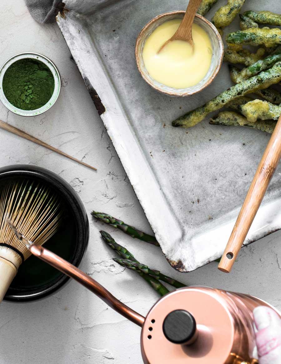 Matcha Tea Pairing: Asparagus