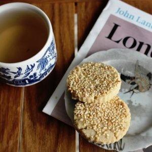 Oolong Tea & Sesame Shortbread