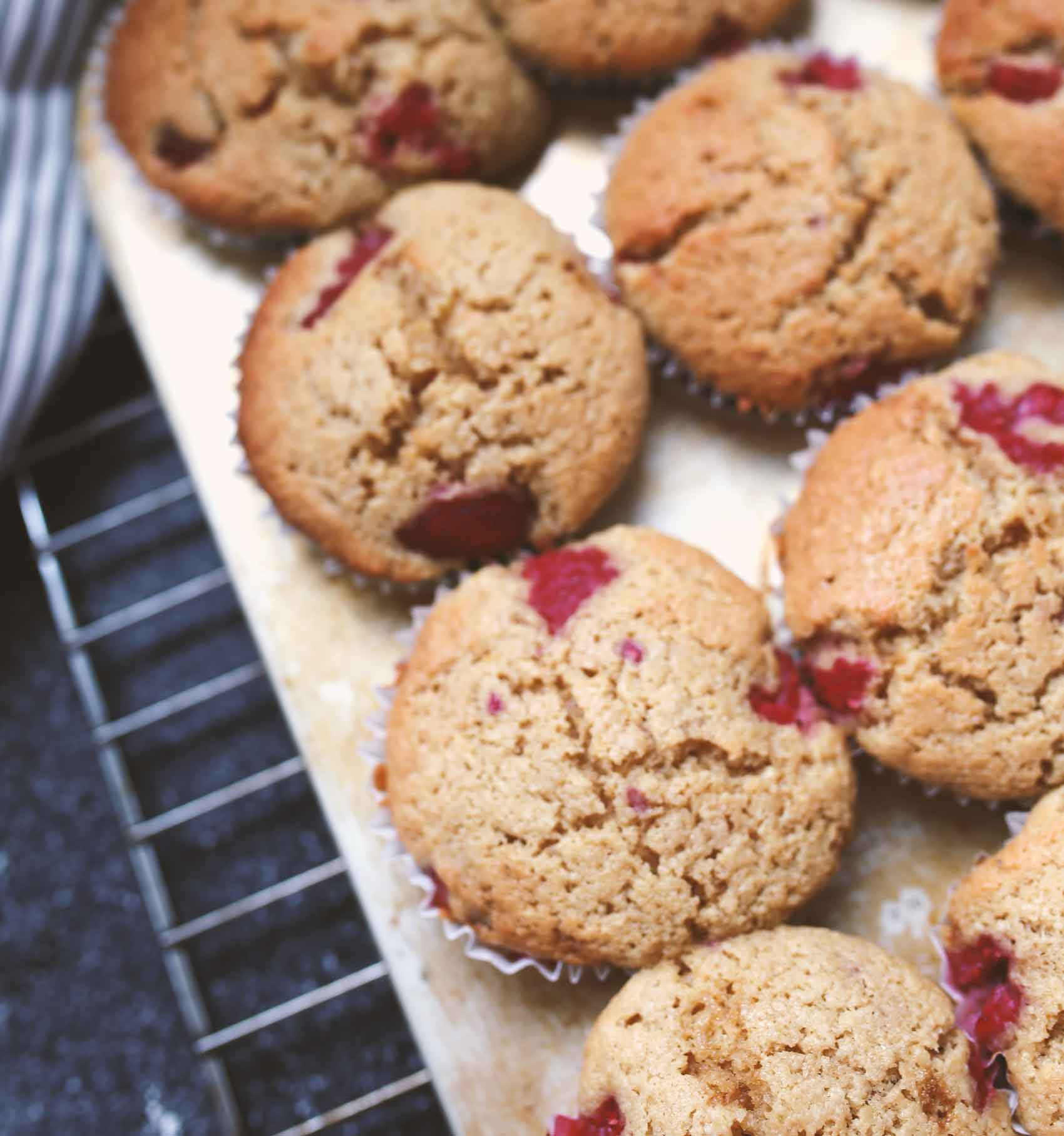 A rose tea pairing with Anna Jones' coconut and raspberry cakes