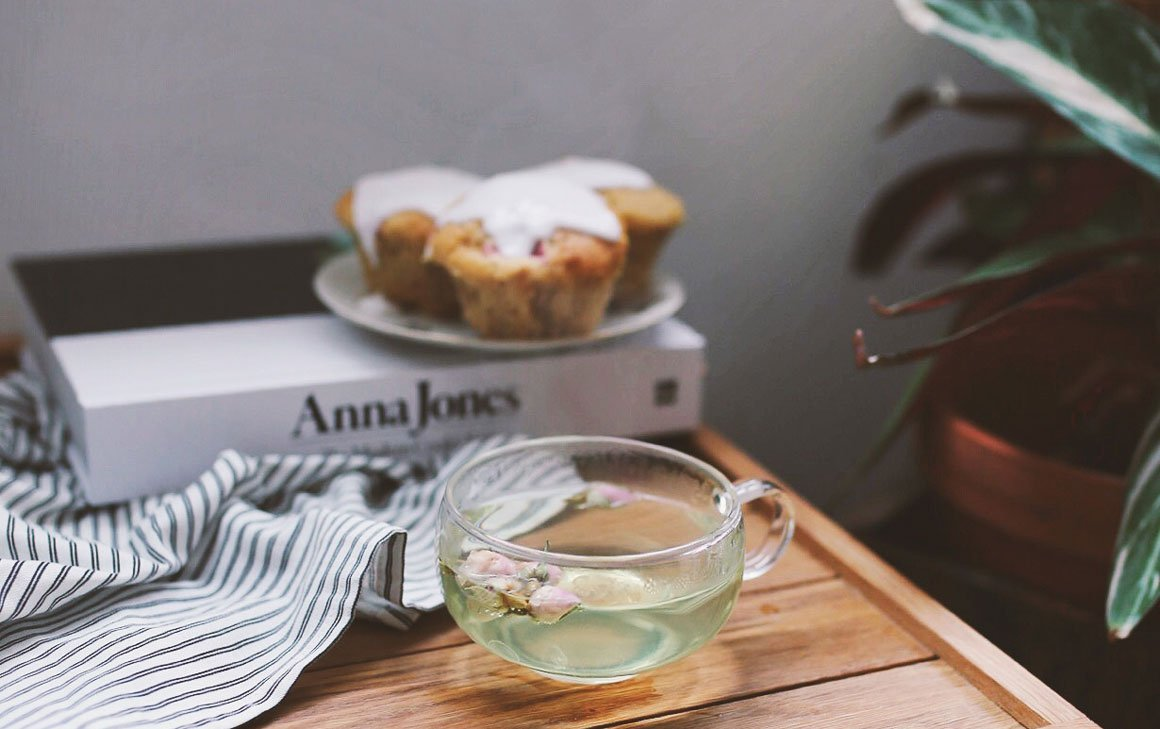 Enjoy the subtle notes of rose tea, paired with an easy recipe for raspberry and coconut cakes.