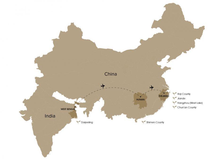 Spring Tea Sourcing Map