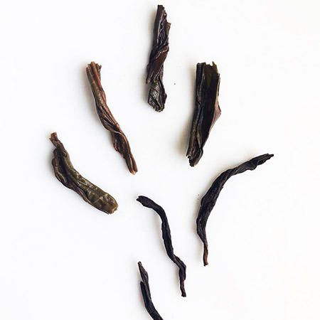 Phonenix Honey Orchid Leaves - it's a dark oolong with twisted leaf shape.
