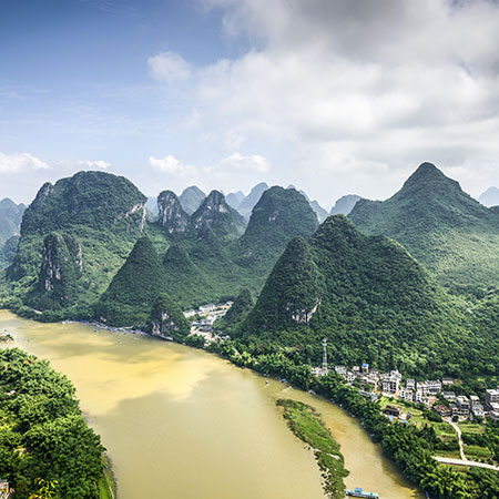 Guangxi province - where both teas are traditionally scented with fresh jasmine blossoms.