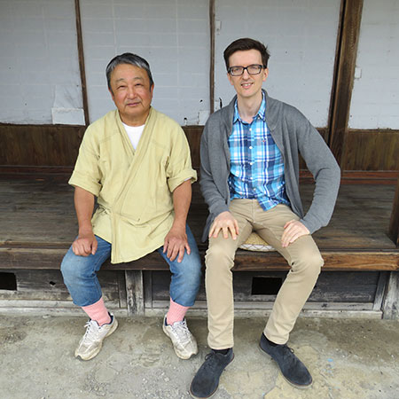 Tom, our head of tea and Ishiyama together in Spring 2019.