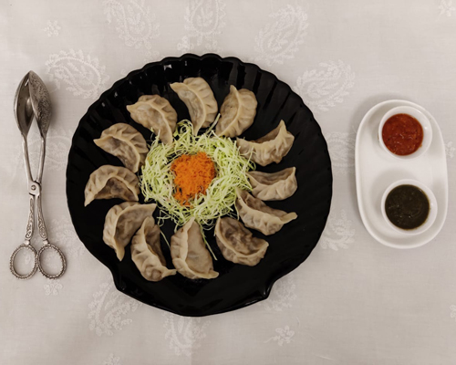 Mrs Sen's momos - dumplings filled with pork, coriander and lots of warming ginger - Darjeeling's favourite food