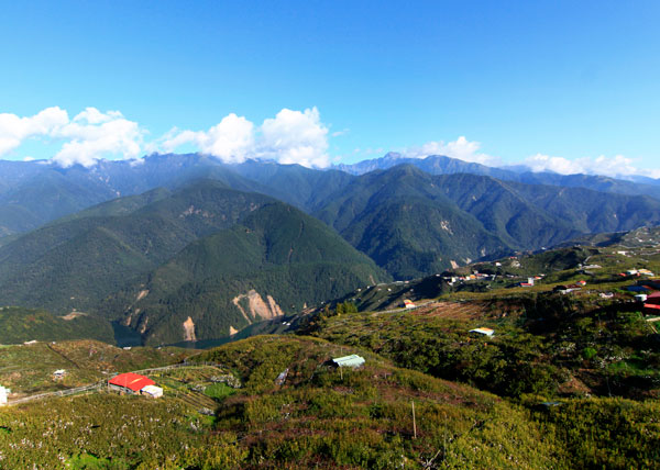 Li Shan Mountain in the Taichung region, Taiwan.
