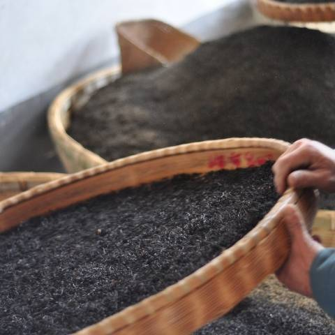 Fully oxidised leaves are carefully dried in bamboo baskets to ensure their rich and refined taste.