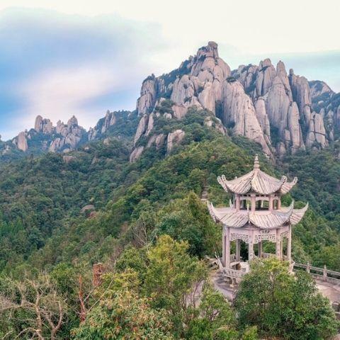 Taimu mountain in Fujian - a province popular with domestic tourists seeking fresh sea air, mountain views and climbing.