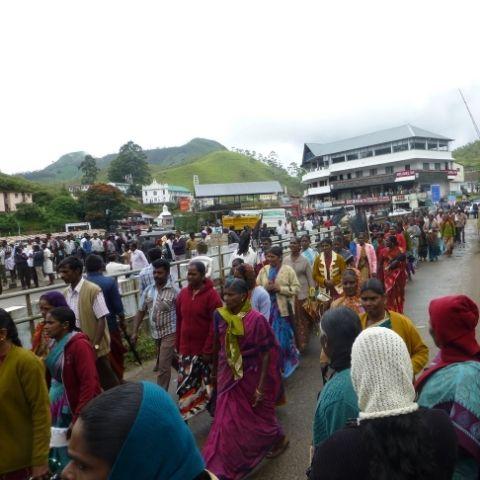 The Pempillai Orumai, or Unity of Women, lead a worker's strike in Munnar, Kerala.