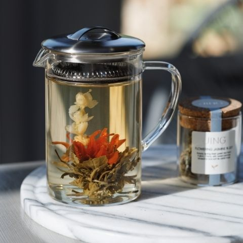 Flowering tea is a treat for the eye and the tastebuds