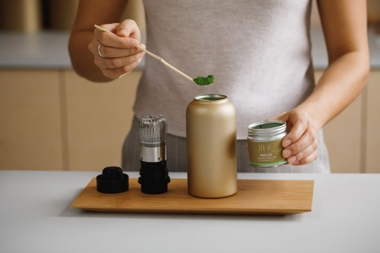 Creating the perfect iced matcha latte is simple with our Matcha Shaker