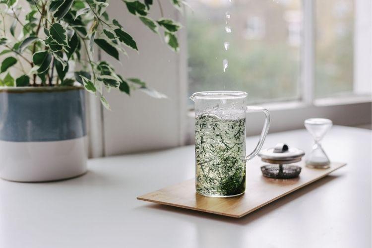 Preparing green tea is easy, its simply tea leaves and water
