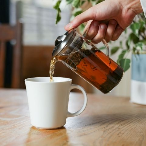 Hojicha is a roasted green tea made from the stems of the bushes