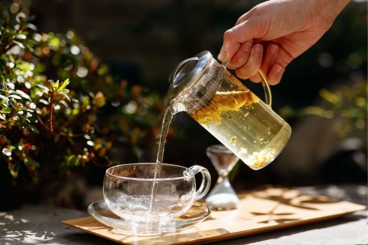 Naturally caffeine free and delicious, Chamomile appears as a bright, sunny yellow in the cup