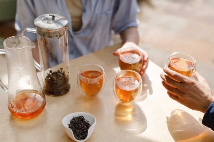 We recommend cold infusing your tea in litre batches to make sure there's plenty to keep you cool during a hot afternoon.