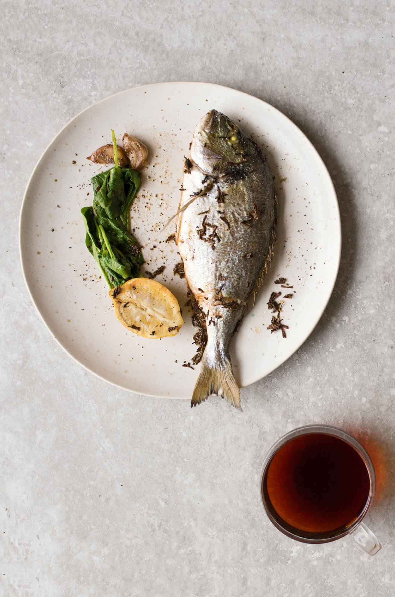 A recipe for Earl Grey baked fish - an ideal tea recipe for Christmas.