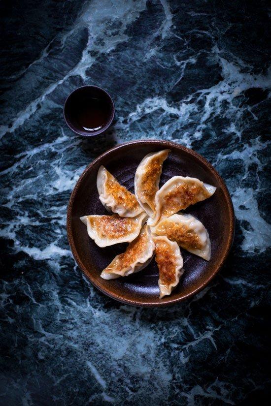 JING Japanese Sencha Tea Pairing with Pork Prawn Gyoza from chef Rob Roy Cameron